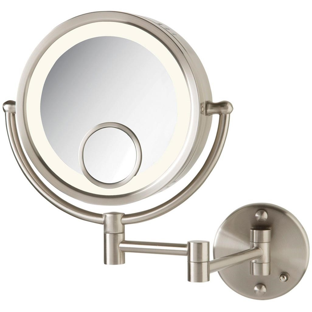 Jerdon 7x Wall Mount Mirror Jerdon 7x Wall Mount Mirror jerdon hl8515n 7x 1x halo lighted wall mount mirror in nickel 1026 X 1026