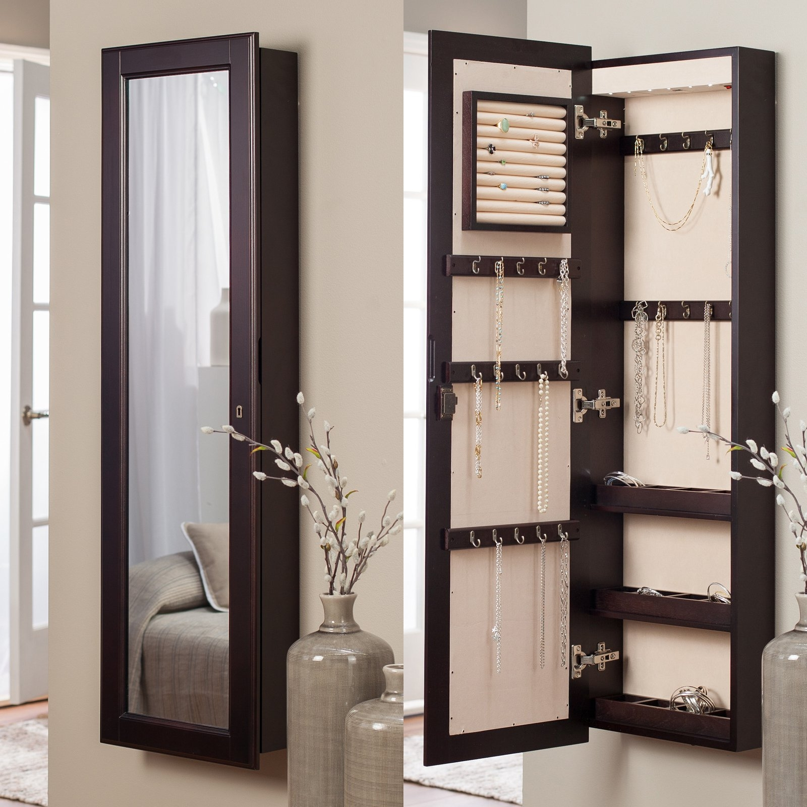 Jewelry Armoire Wall Mirror