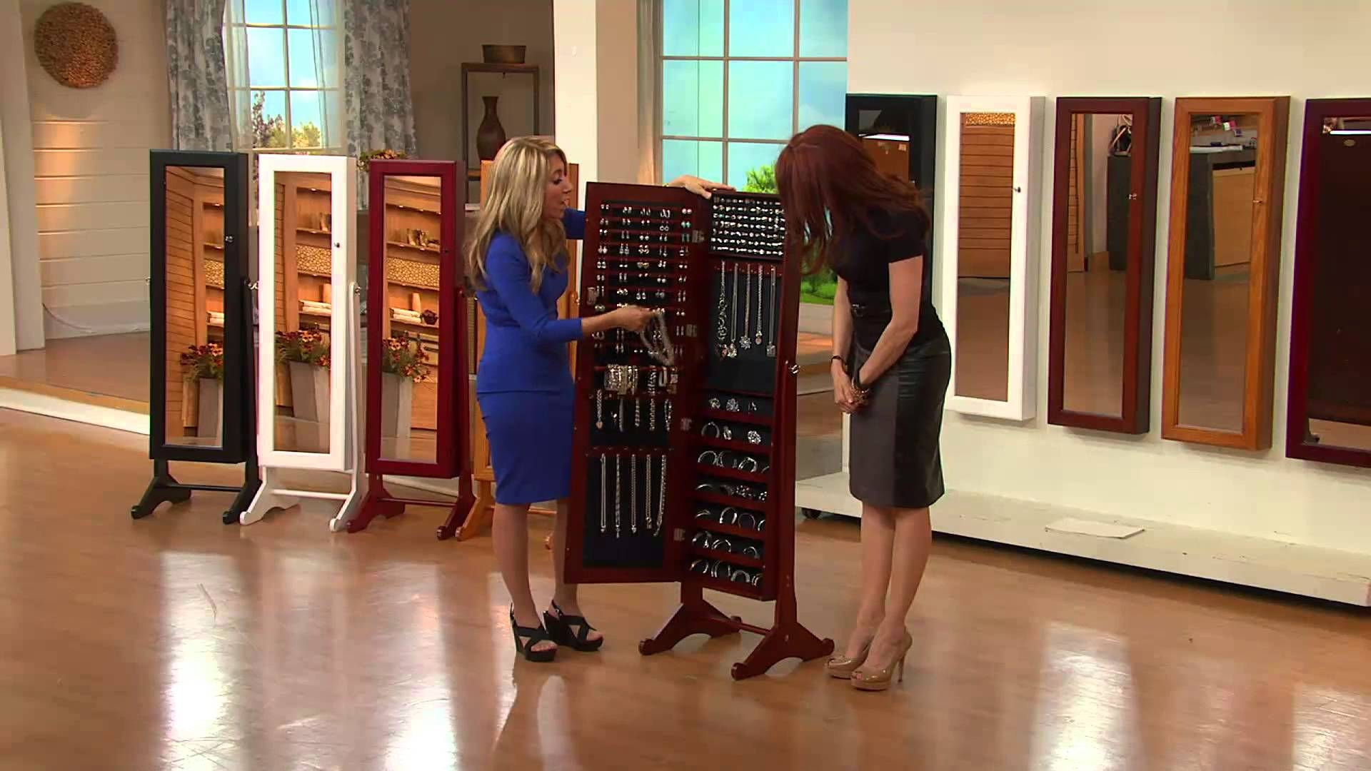 Jewelry Mirrored Wall Cabinet Lori Greiner