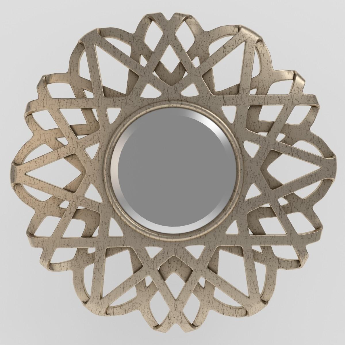 Kichler Rebound Silver Leaf Finish Wall Mirror