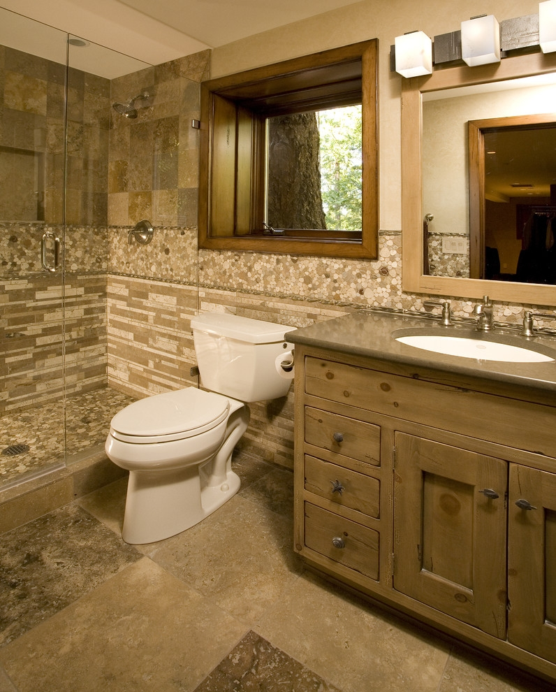 Knotty Pine Bathroom Mirror