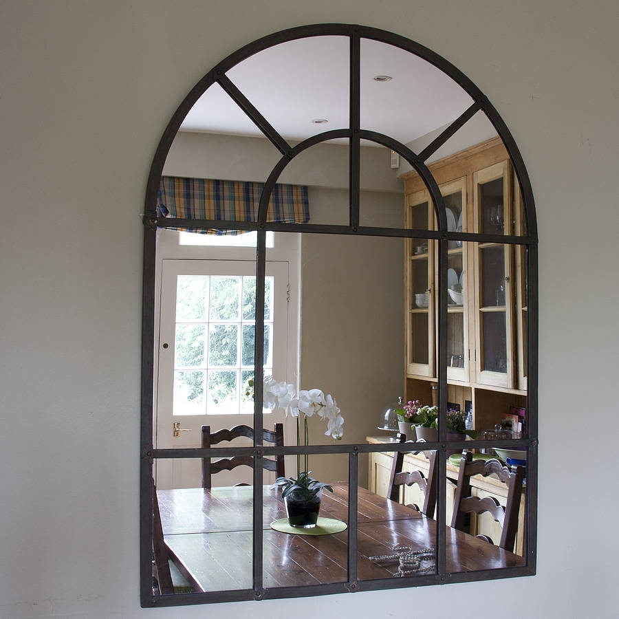 Large Arched Wall Mirror