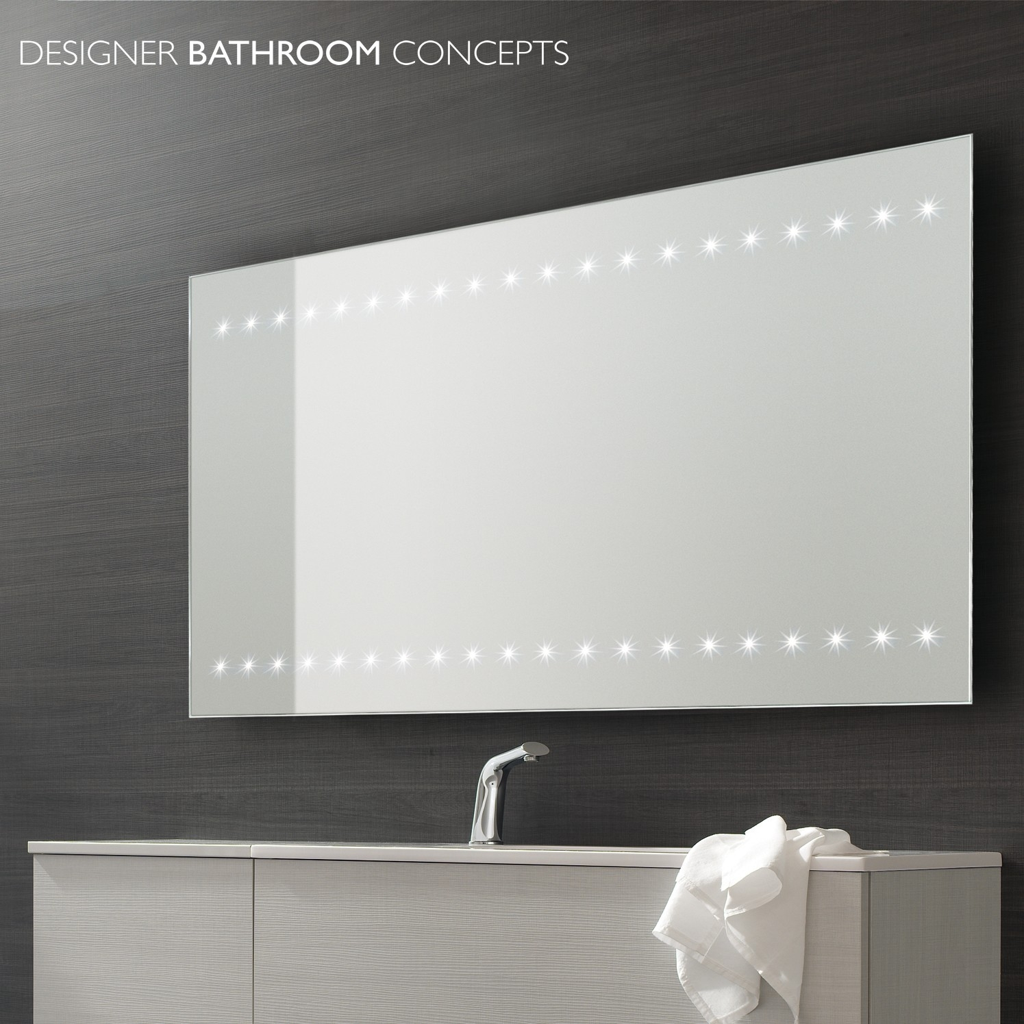 Large Bathroom Mirror Illuminated