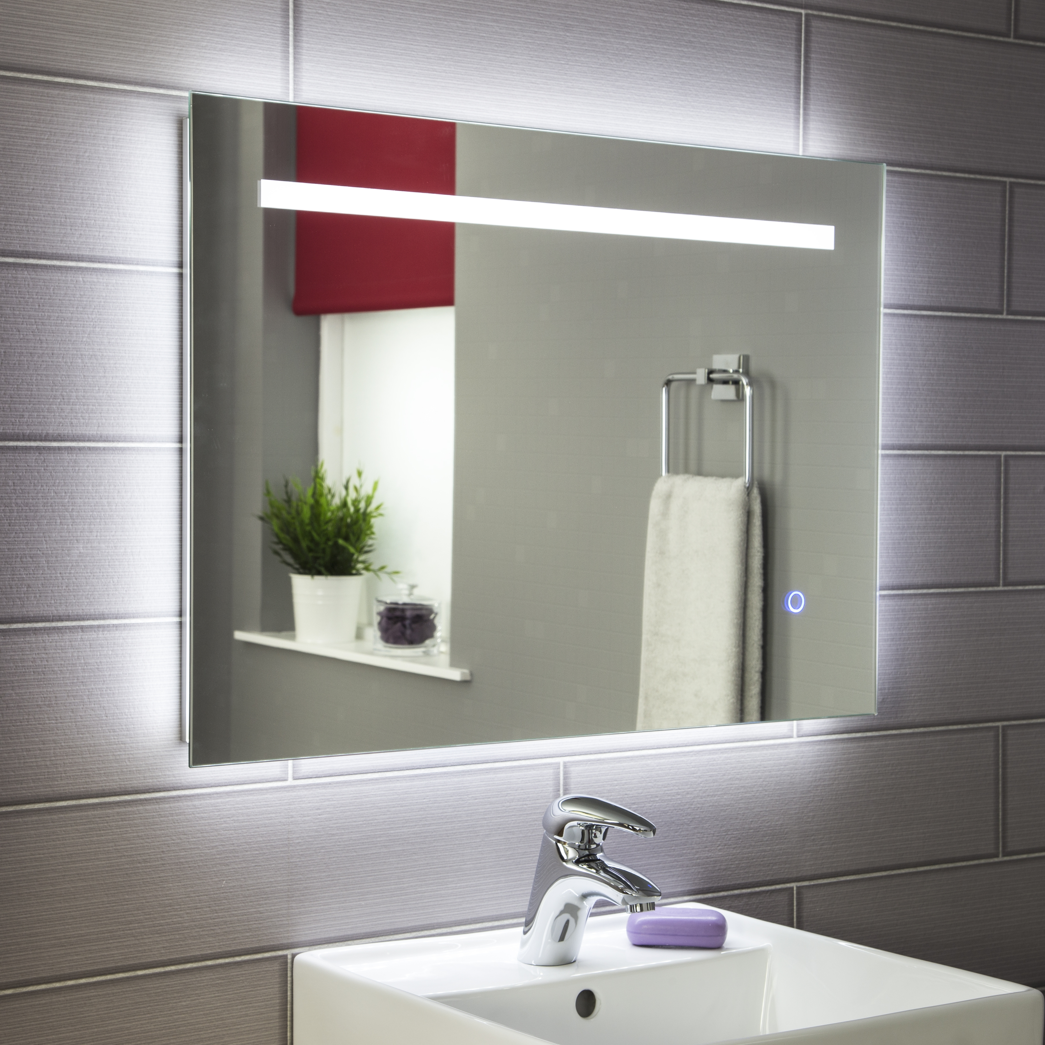 Large Bathroom Mirror With Battery Lights