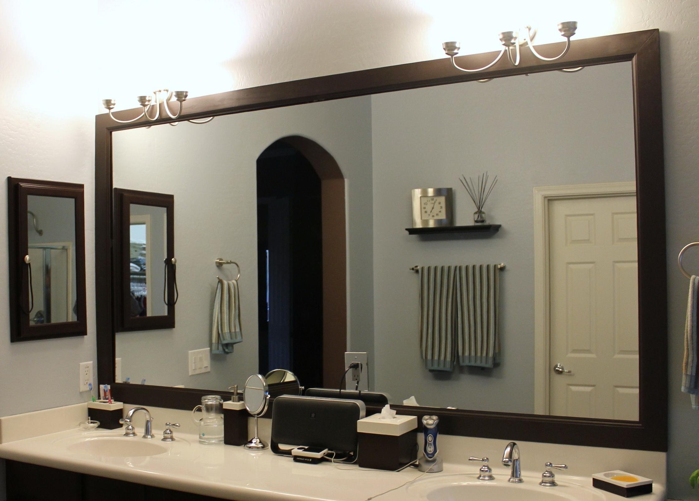 Large Bathroom Mirrors Framed