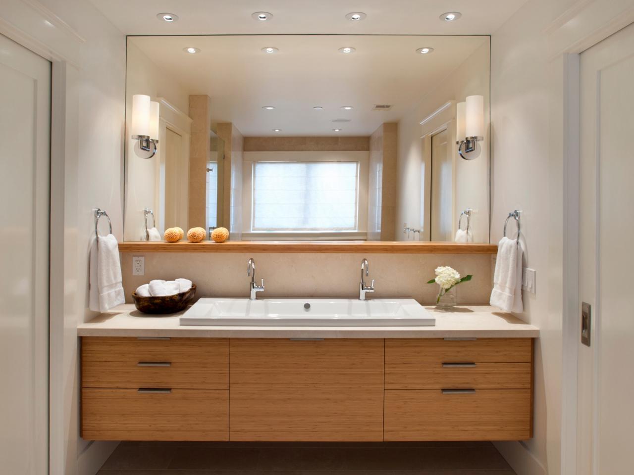 Large Bathroom Mirrors Modern