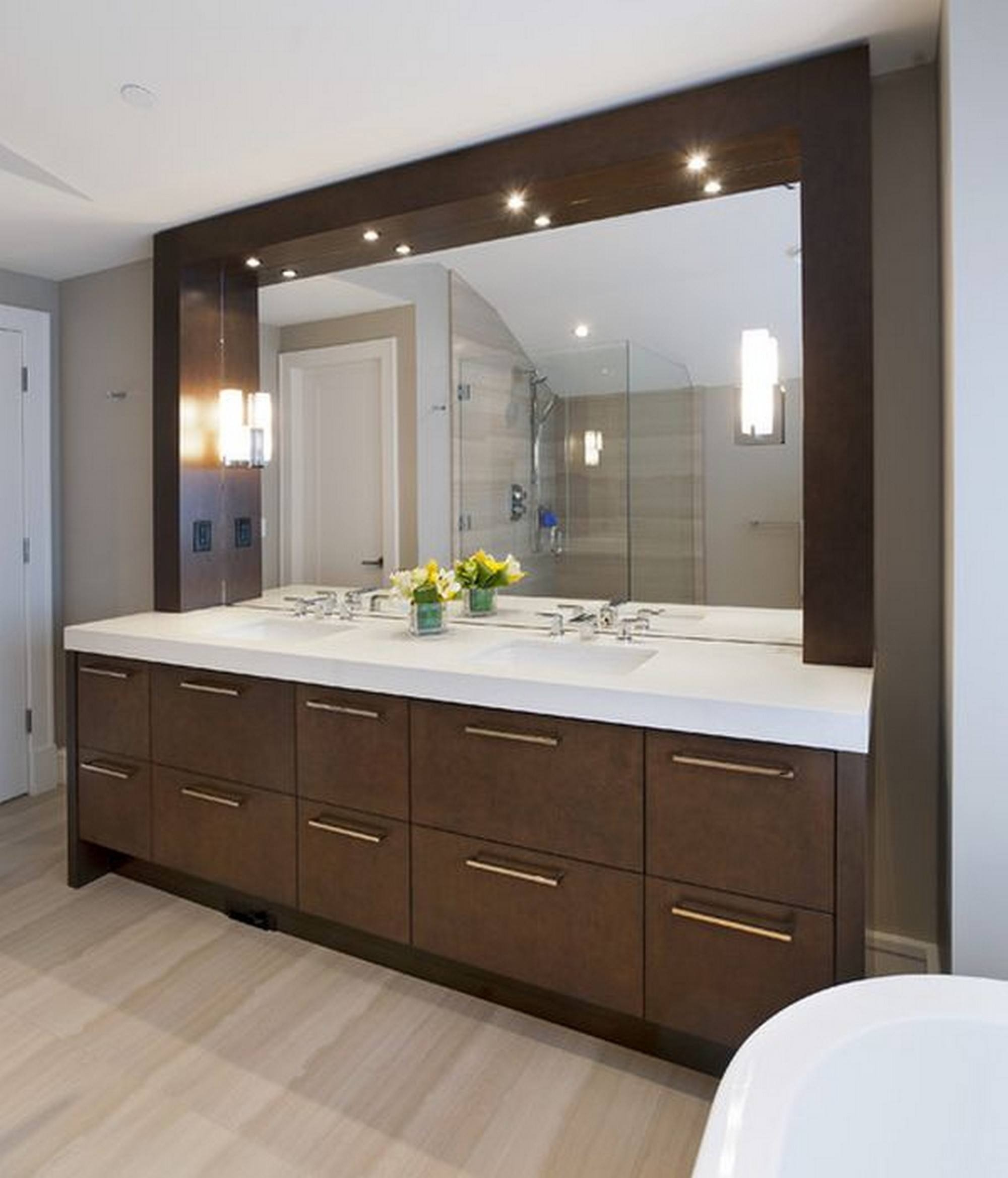 Permalink to Large Bathroom Vanity Mirrors