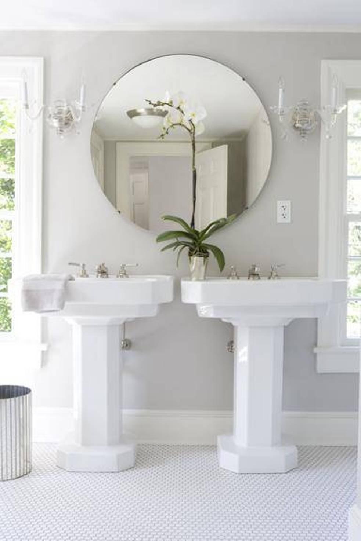 Large Circular Bathroom Mirror