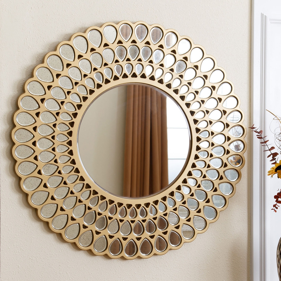 Large Copper Wall Mirror