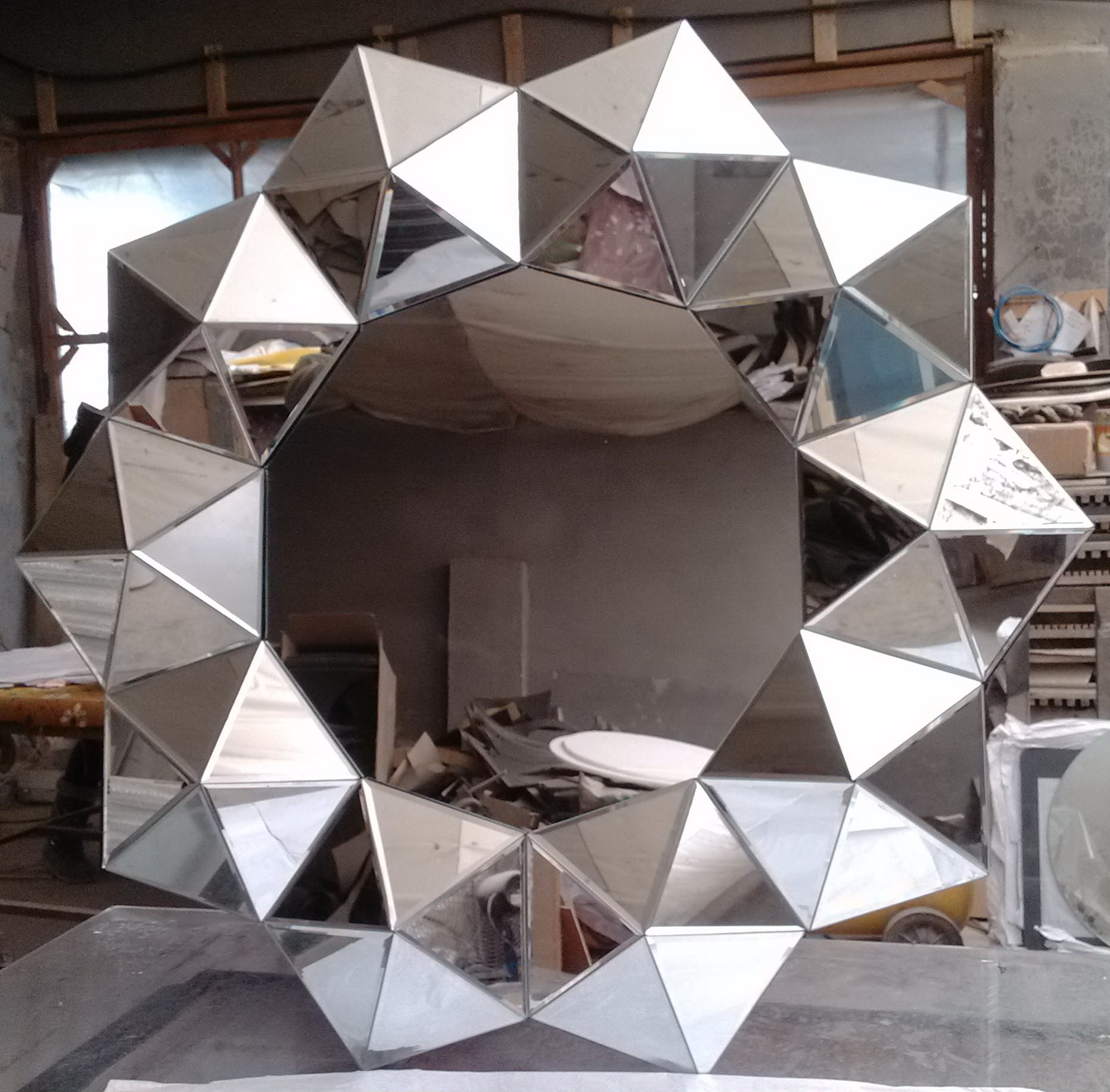 Large Flower Wall Mirror