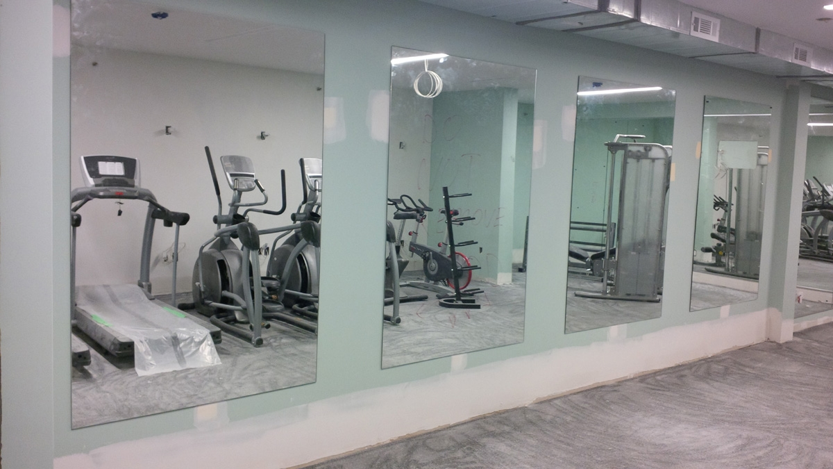 Large Frameless Wall Mirrors For Gym
