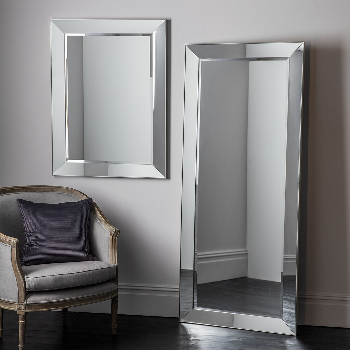 Large Glass Framed Wall Mirrors