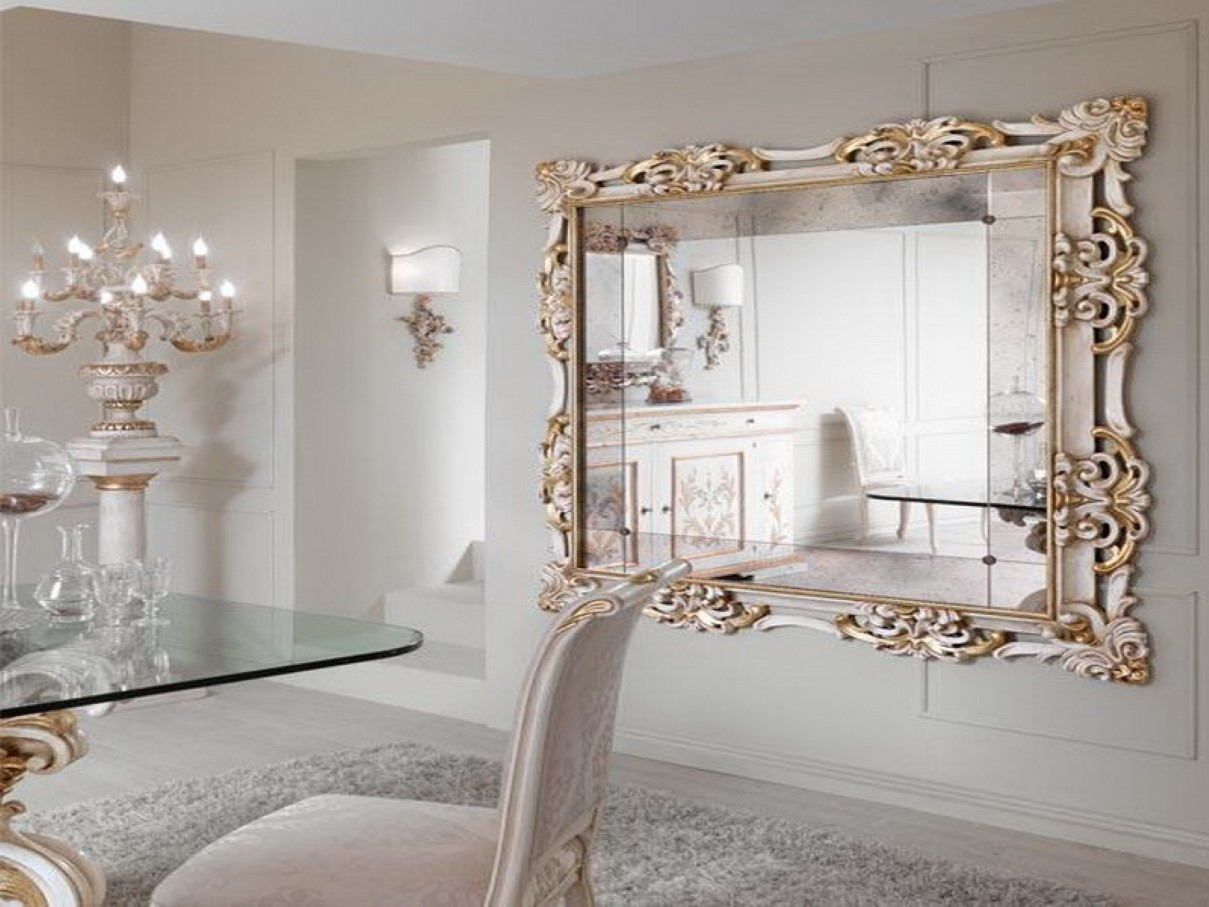 Large Gold Framed Wall Mirrors