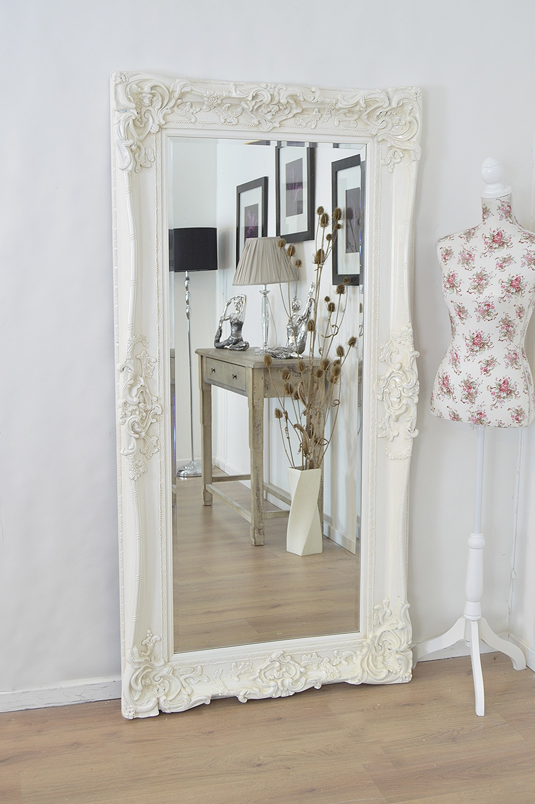 Large Ivory Wall Mirror