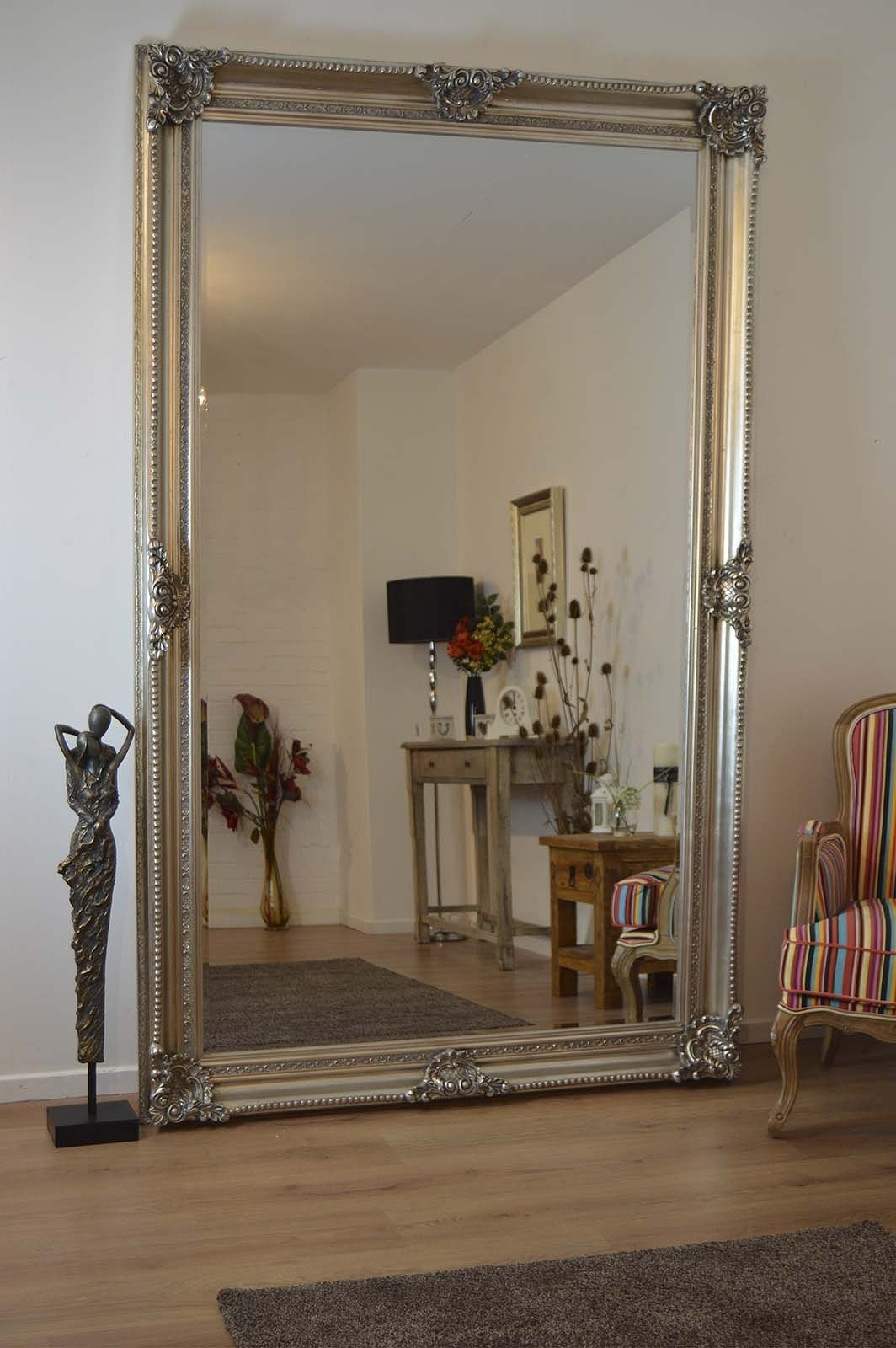 Large Leaning Wall Mirrors