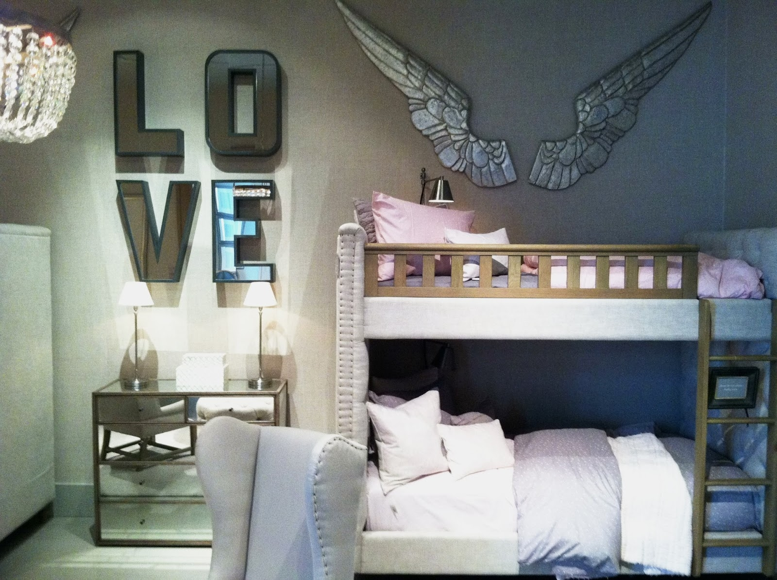 Large Mirrored Letters Wall