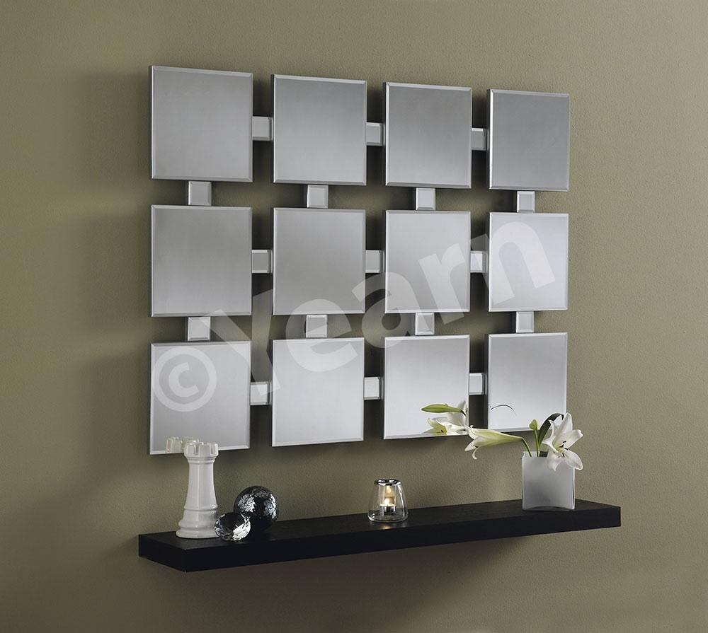 Large Multi Faceted Wall Mirror