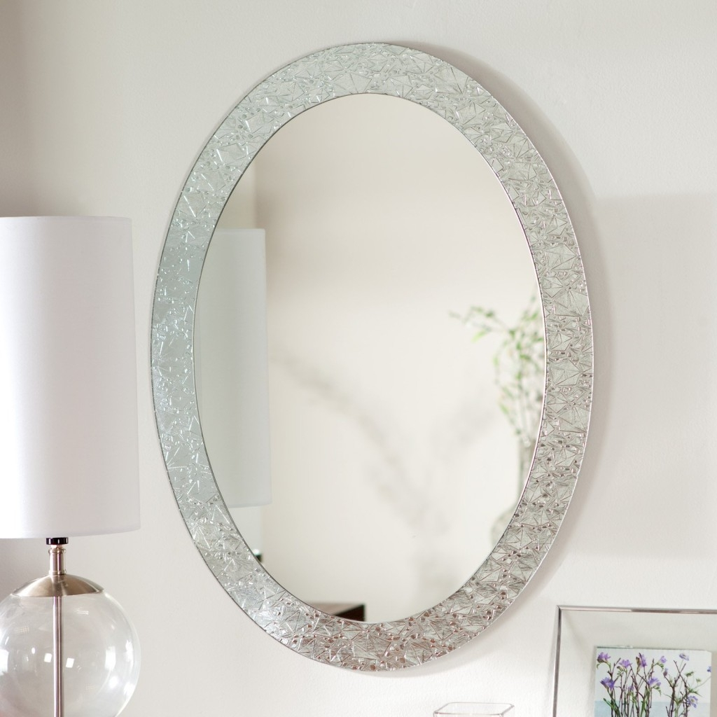 Large Oval Bathroom Wall Mirror