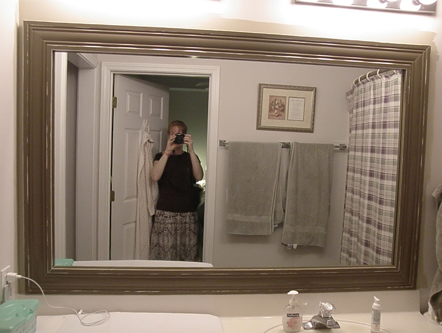 Large Rectangular Framed Bathroom Mirrors