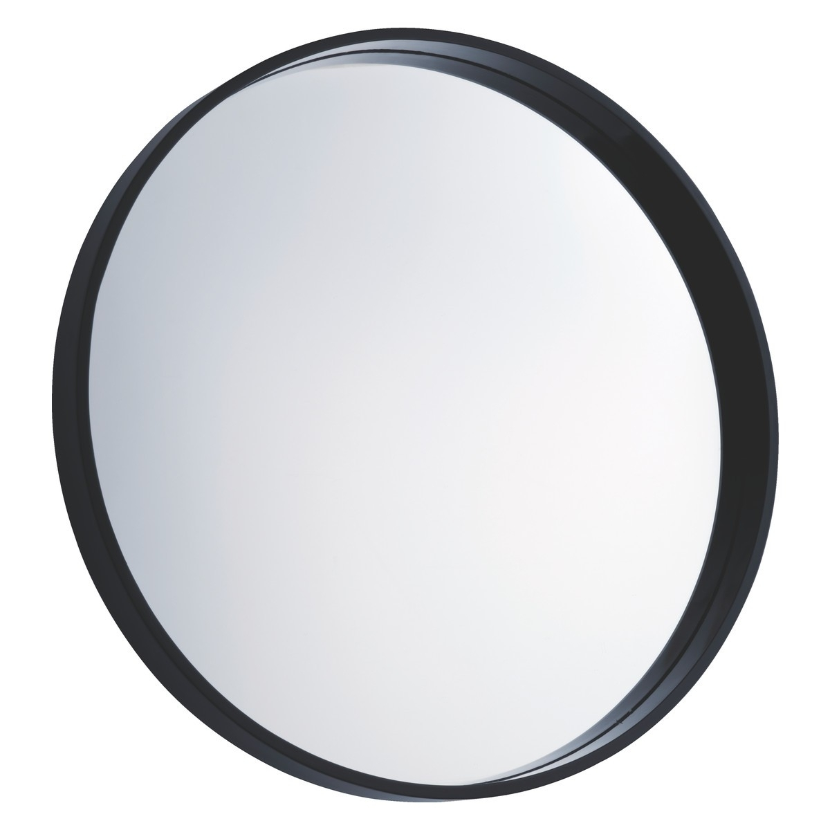 Large Round Black Wall Mirror