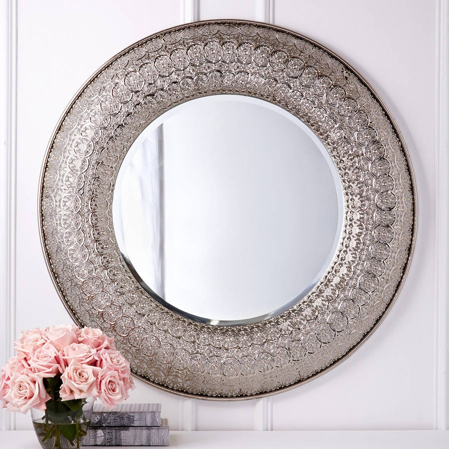 Large Round Decorative Wall Mirror
