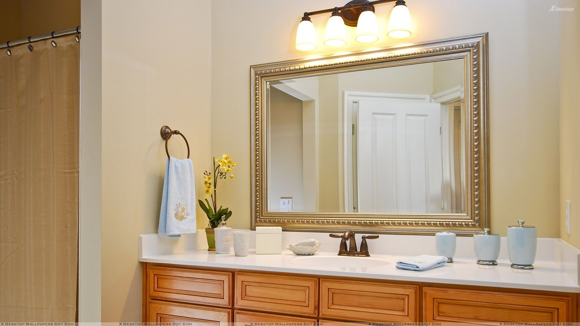 Permalink to Large Silver Bathroom Mirrors
