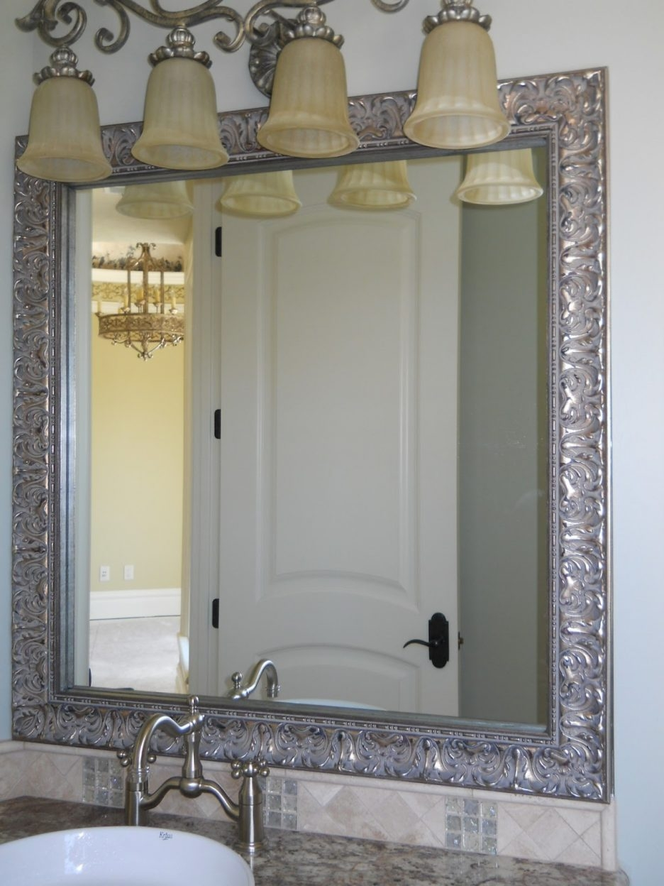Large Silver Framed Bathroom Mirrors
