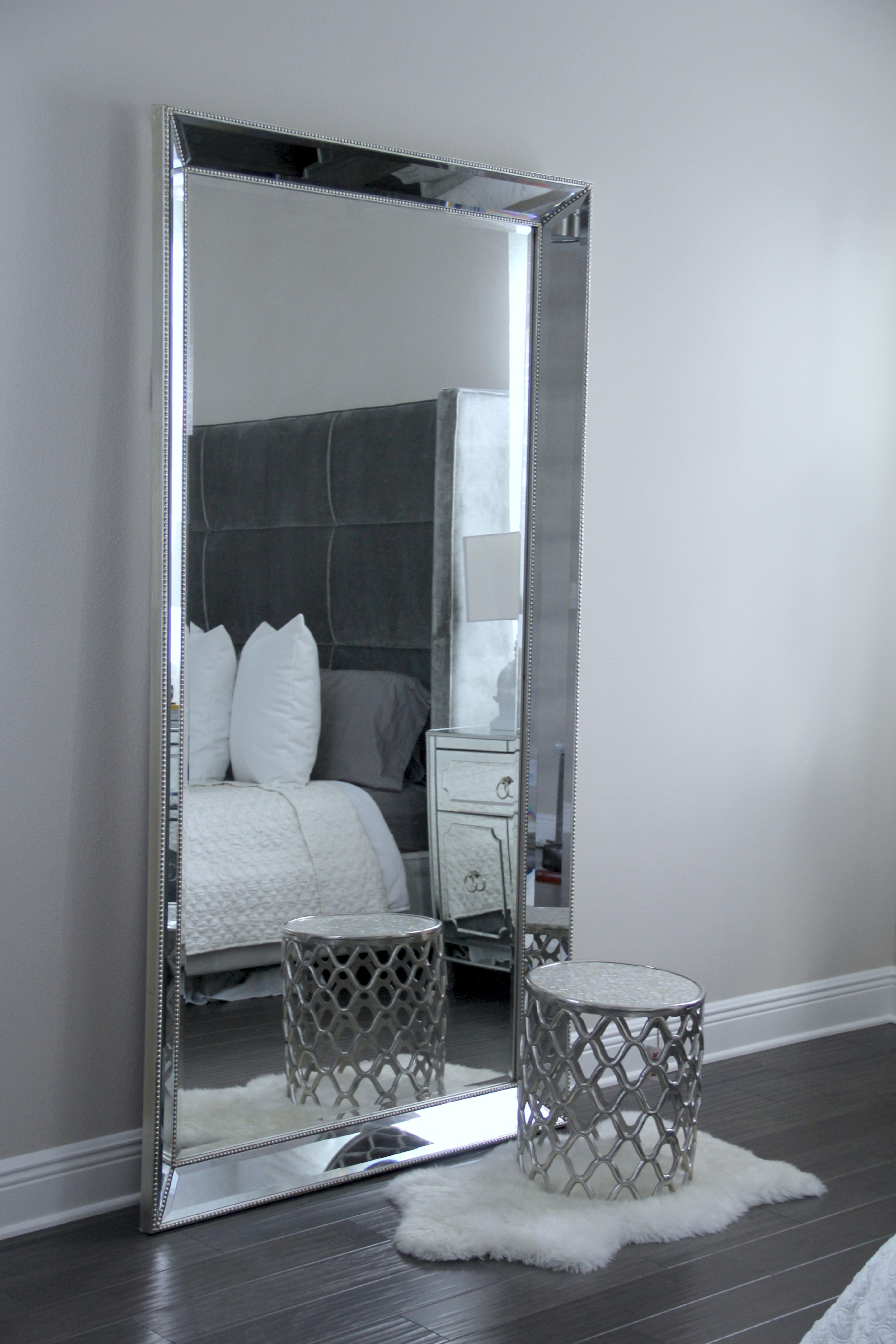 Large Silver Framed Wall Mirrors