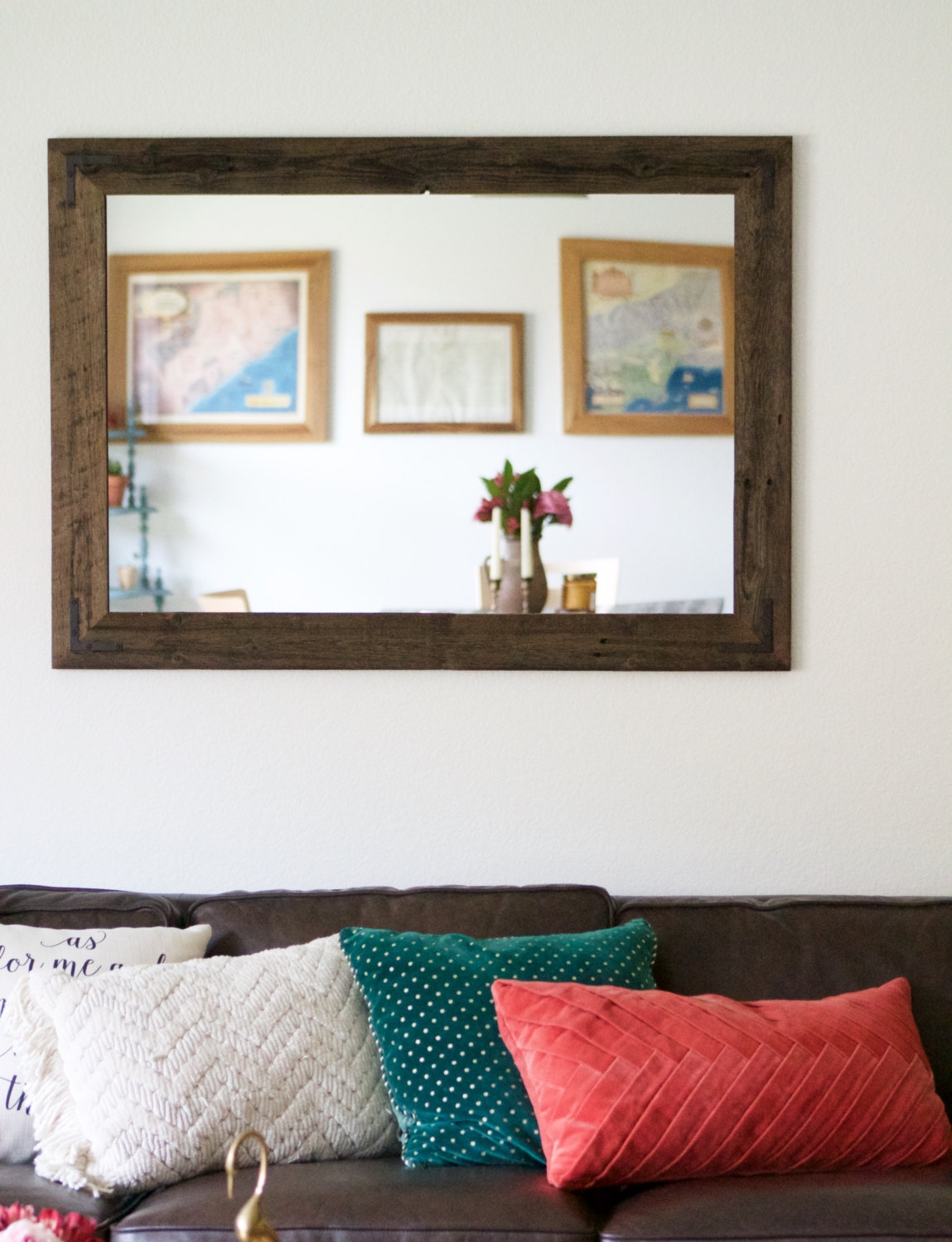 Large Turquoise Wall Mirror