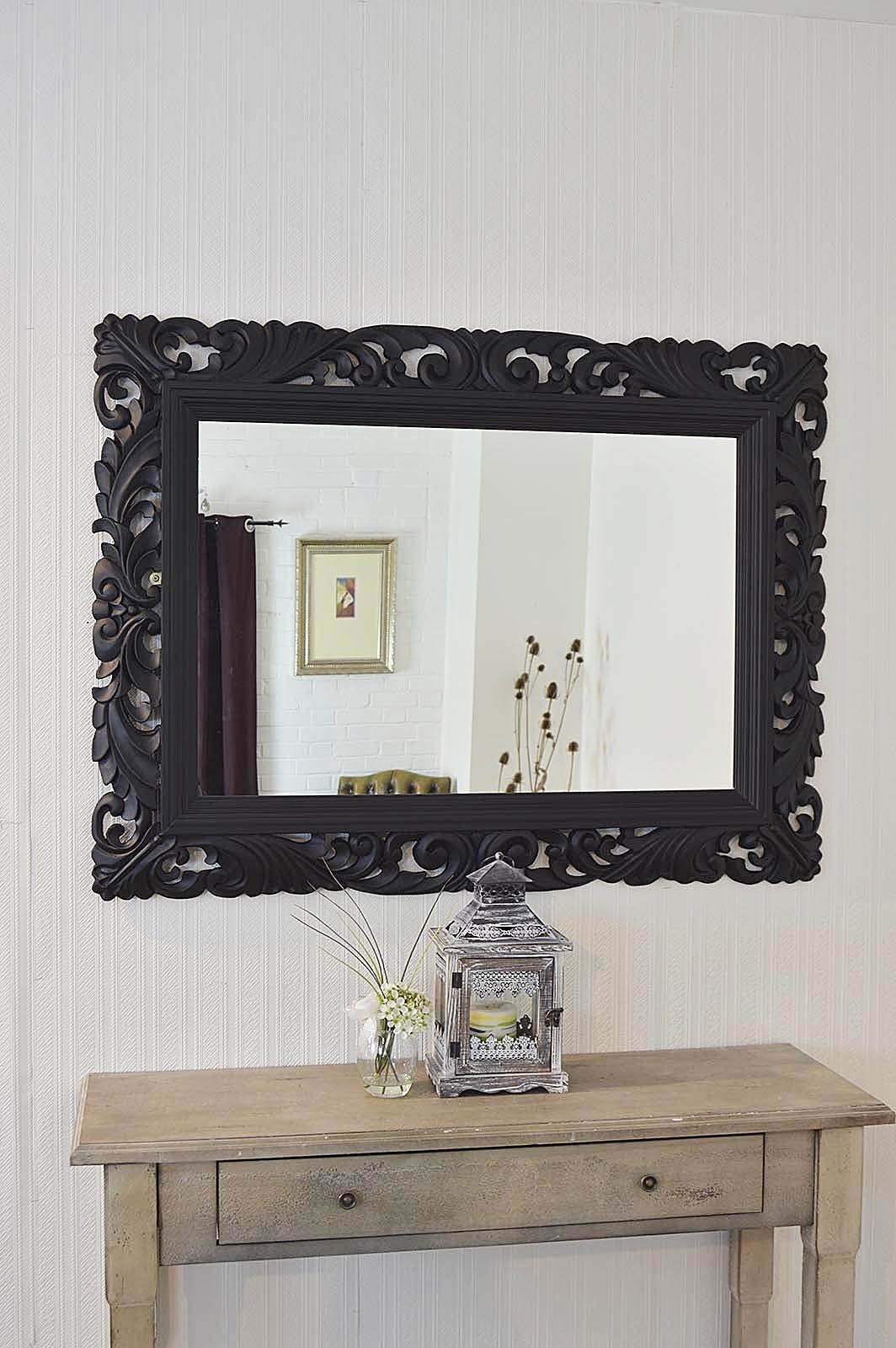 Large Wall Mirror Black