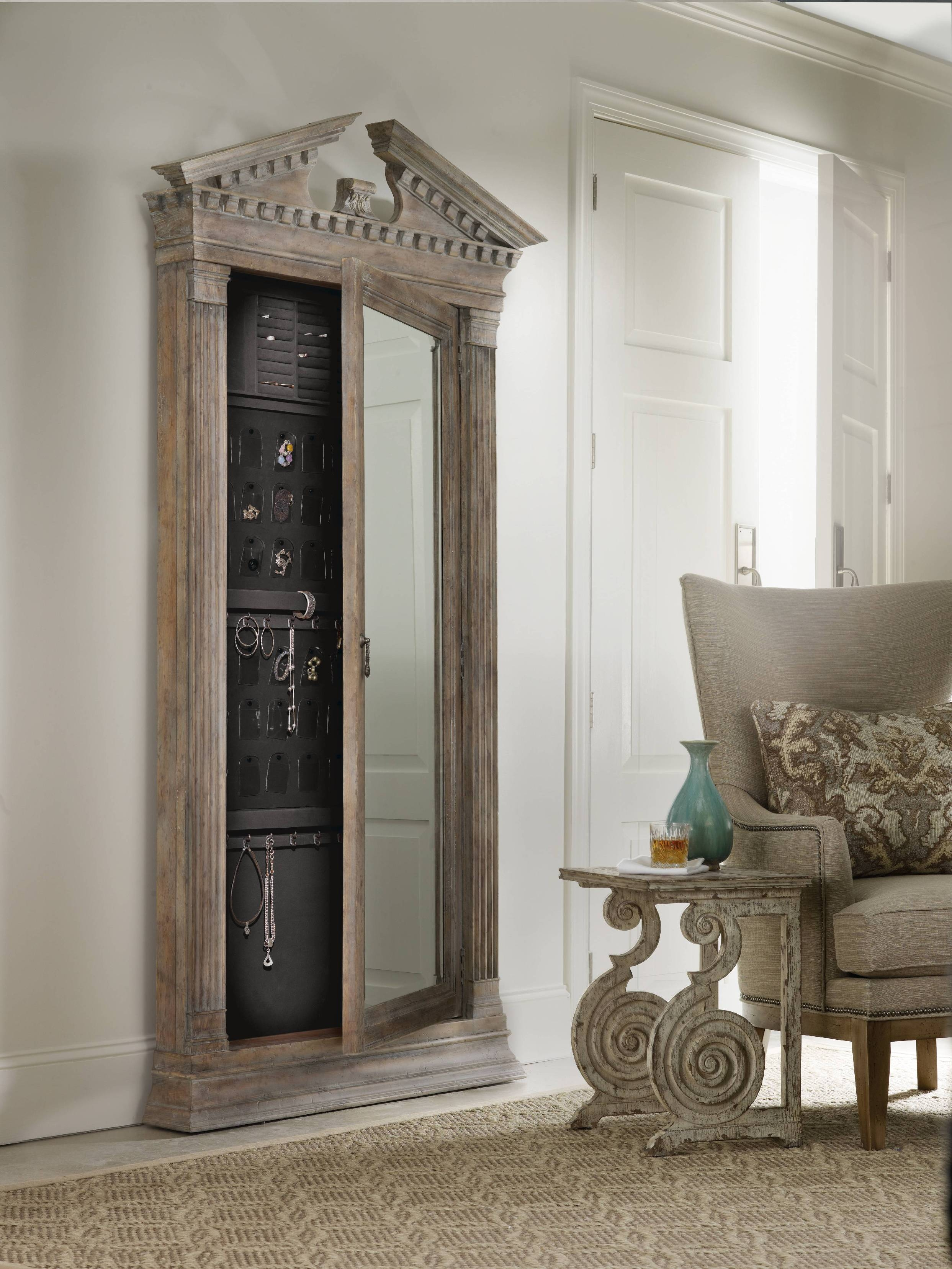 Large Wall Mirror Jewelry Armoire