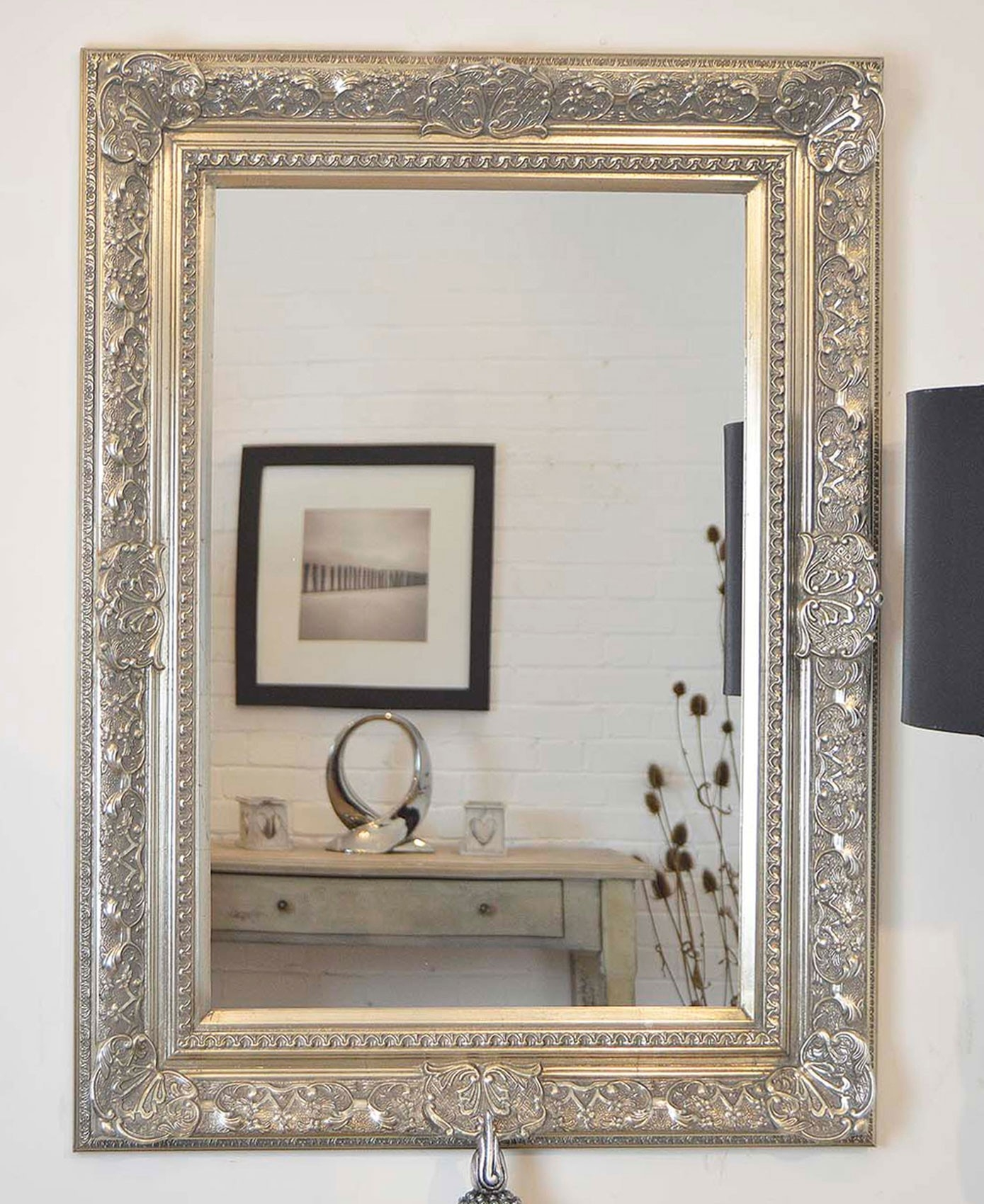 Large Wall Mirror Silver
