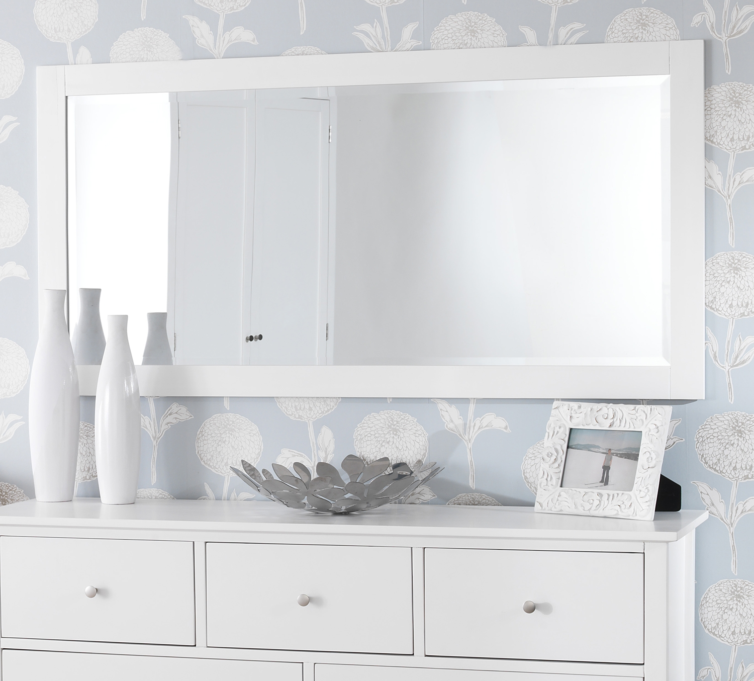 Large Wall Mirror White