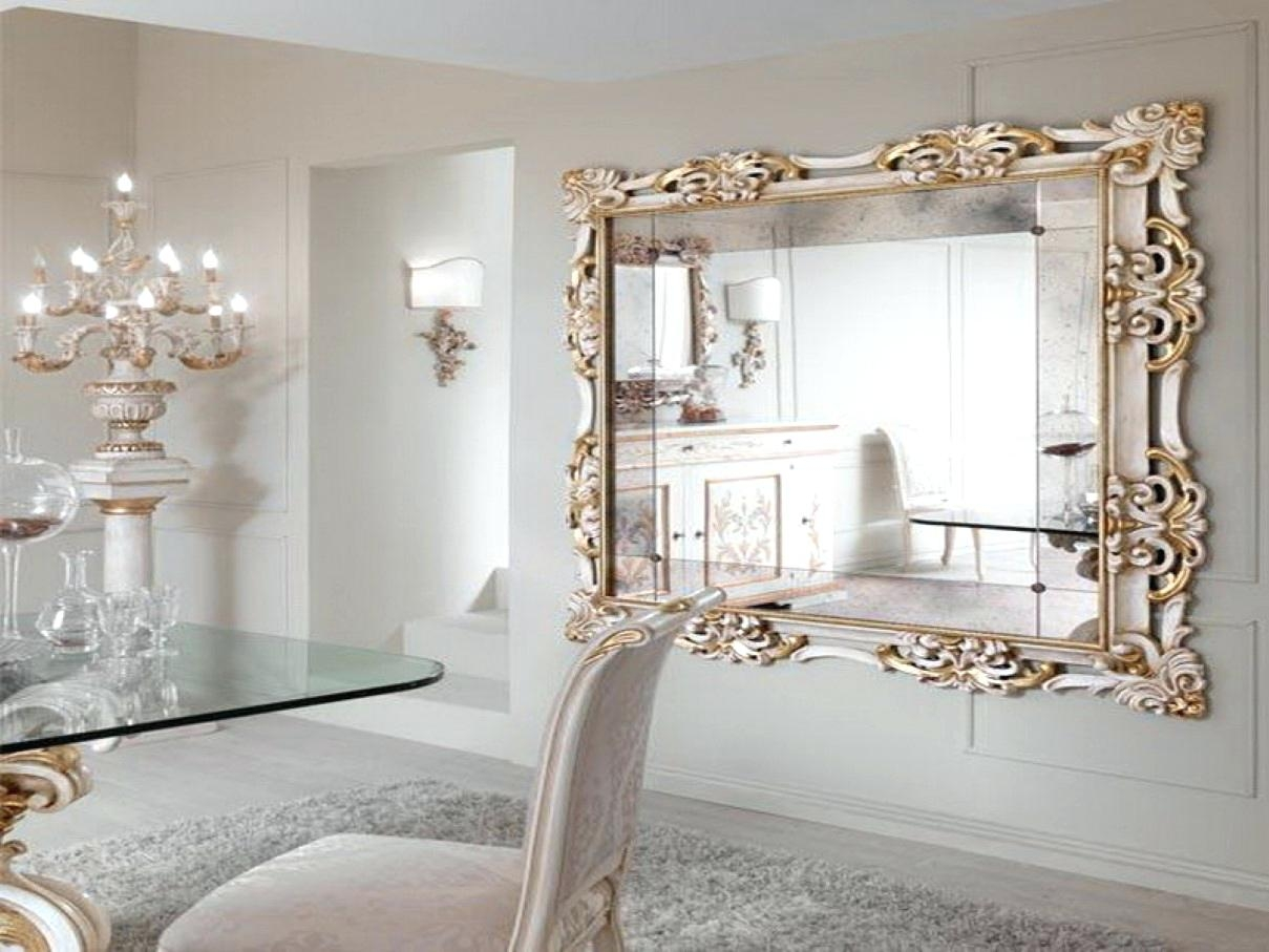 Large Wall Mirror With Silver Frame