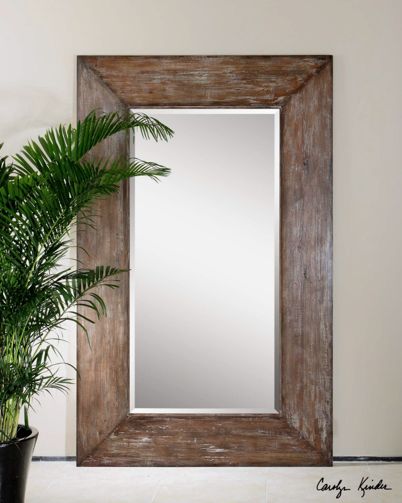 Large Wood Wall Mirror