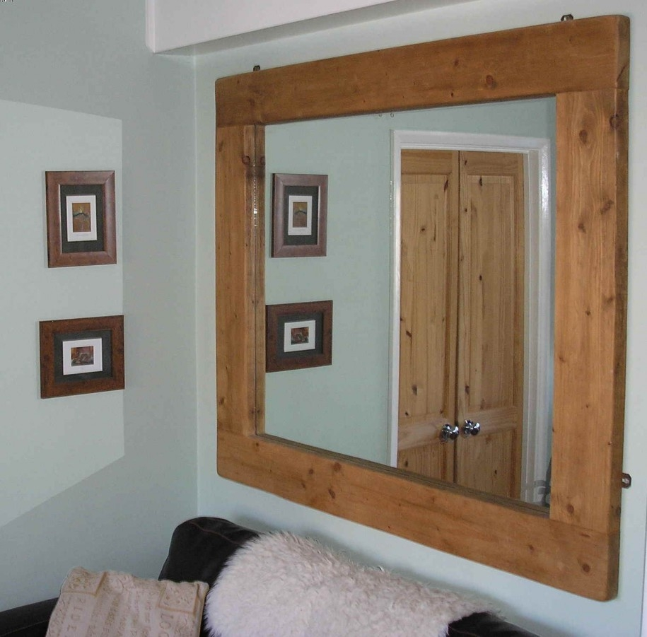 Large Wooden Framed Wall Mirrors
