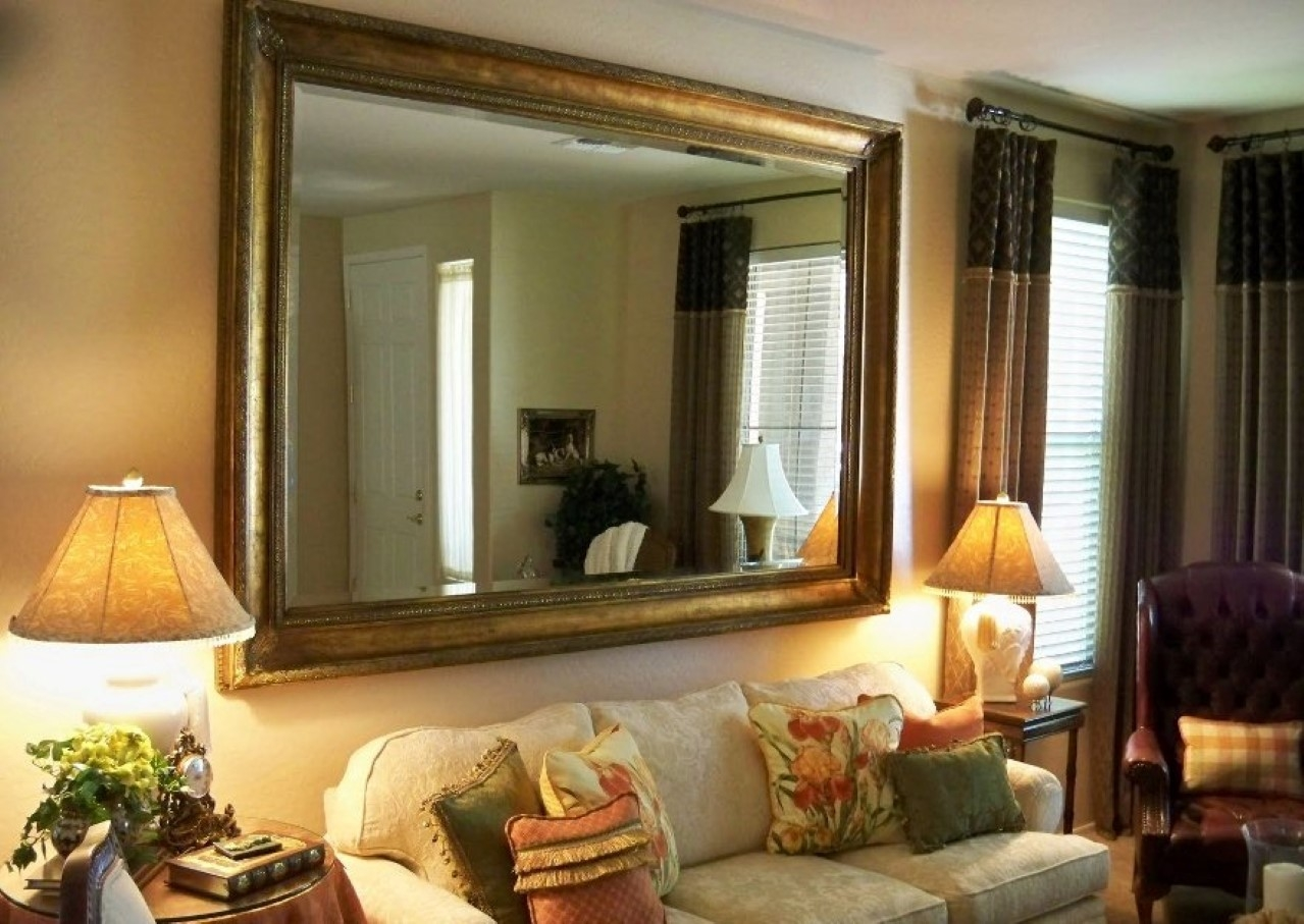 Leather Framed Wall Mirror