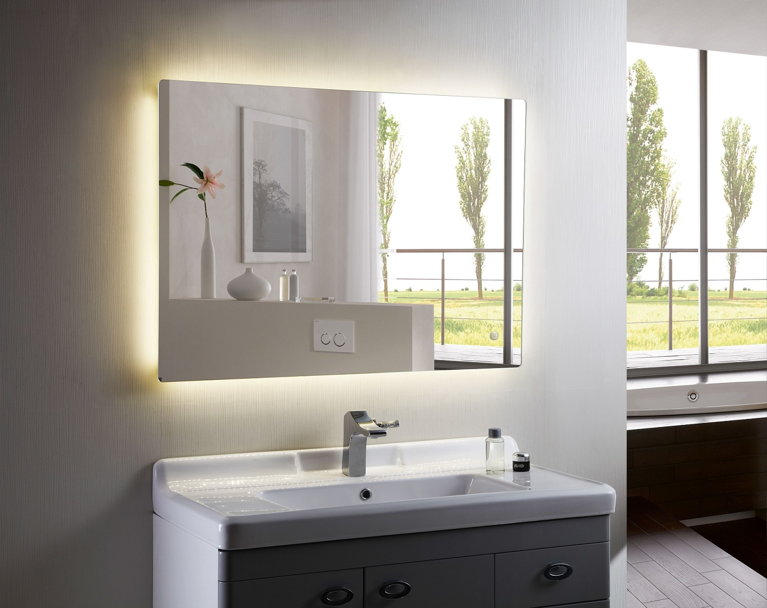 Led Backlit Mirrors For Bathrooms