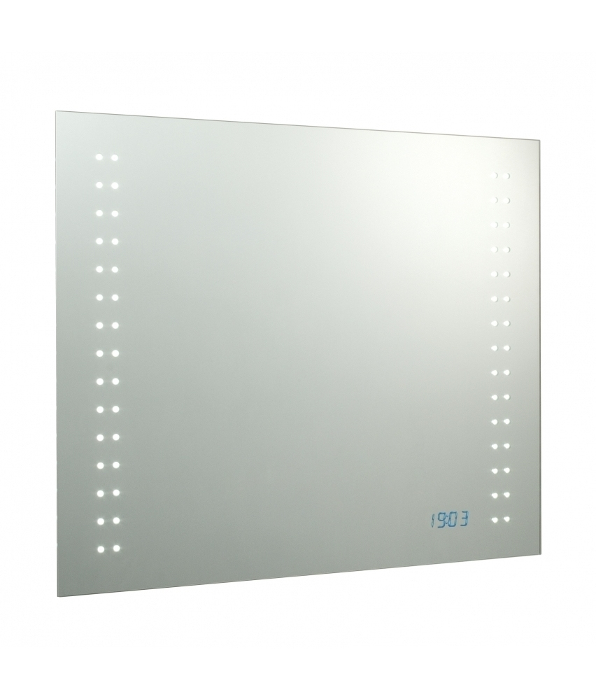 Led Bathroom Mirrors With Demister And Shaver Socket And Clock