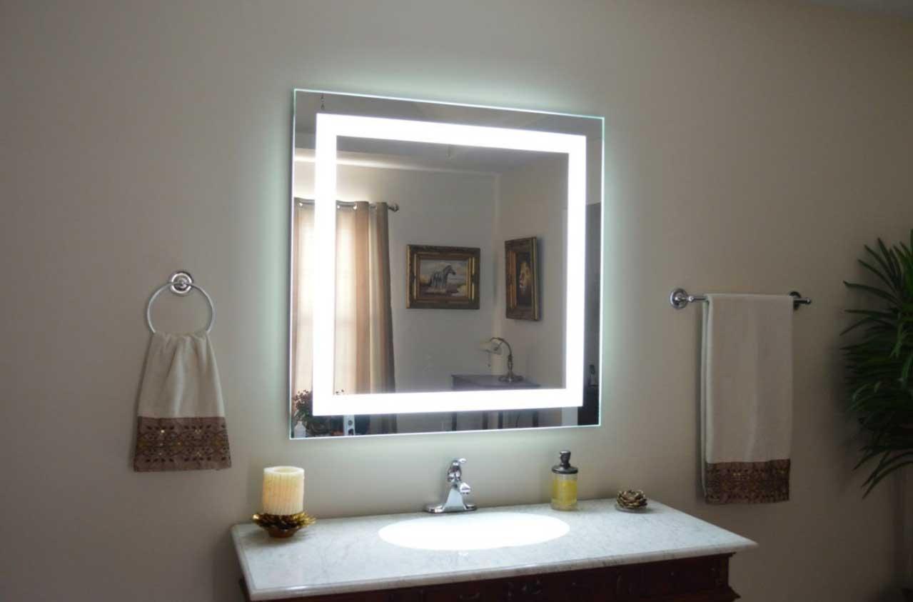 Led Square Wall Mirror Led Square Wall Mirror vanity wall mirror led doherty house vanity wall mirror 1279 X 843