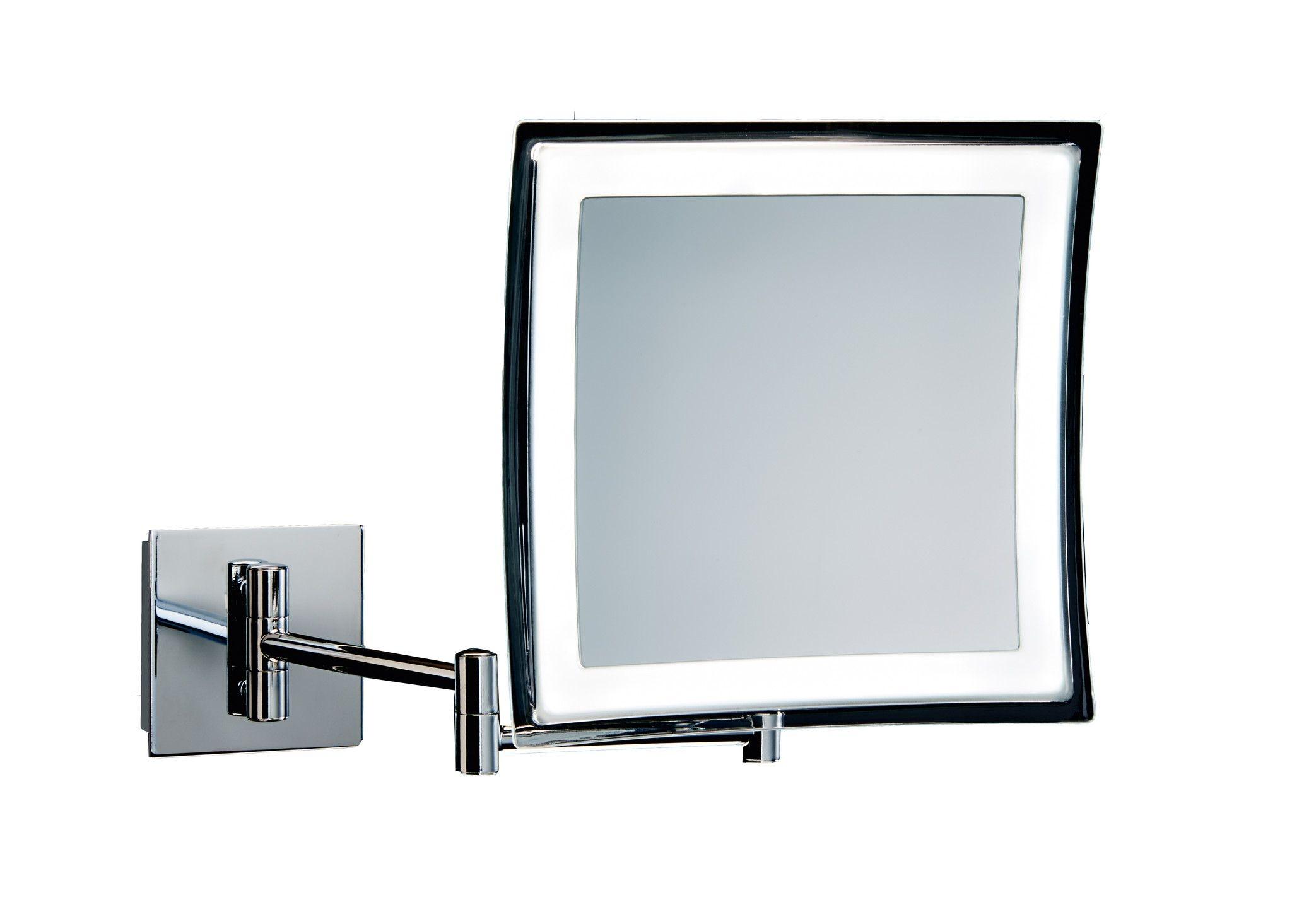 Led Wall Mount Mirror Chrome Led Wall Mount Mirror Chrome dwba square wall mounted cosmetic makeup 5x led light magnifying 2048 X 1465