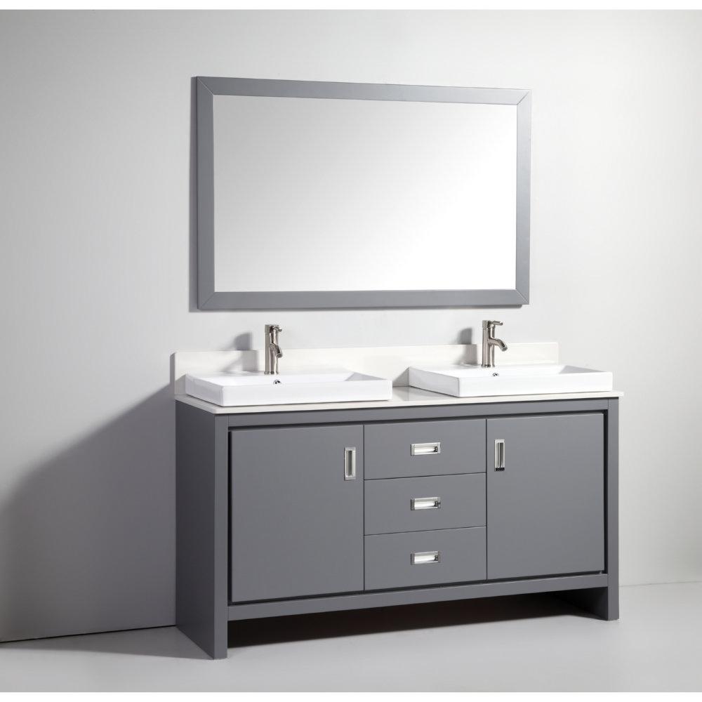 Legion Furniture 60 Double Bathroom Vanity Set With Mirror