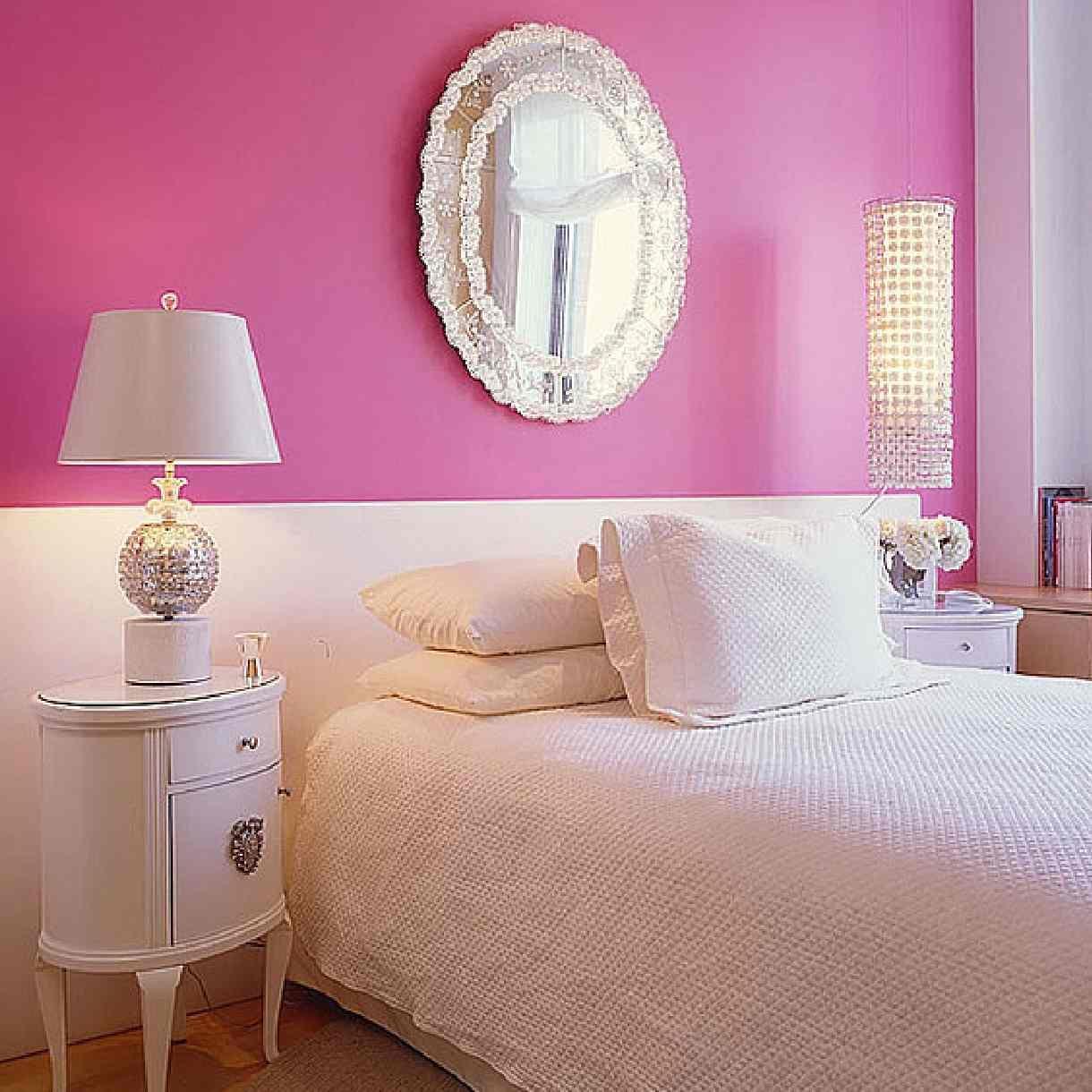 Light Pink Wall Mirror