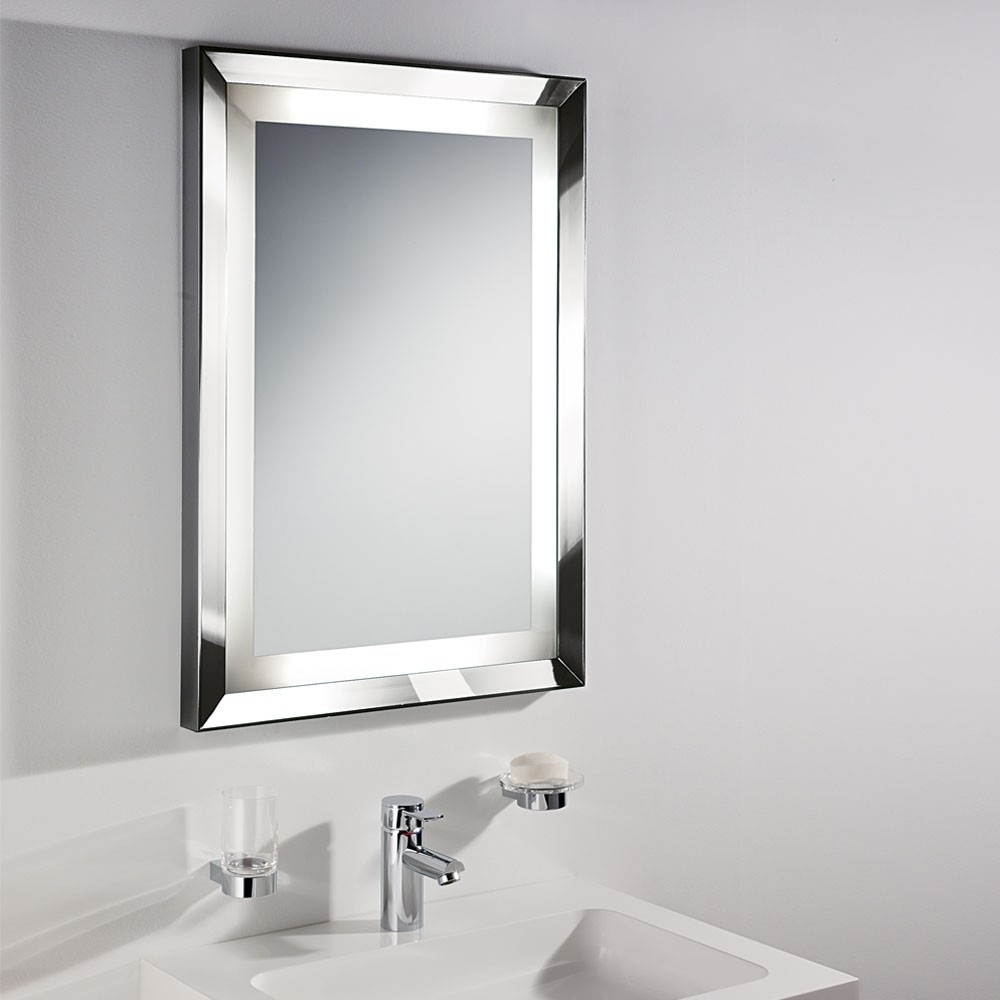 Lighted Bathroom Extension Mirror