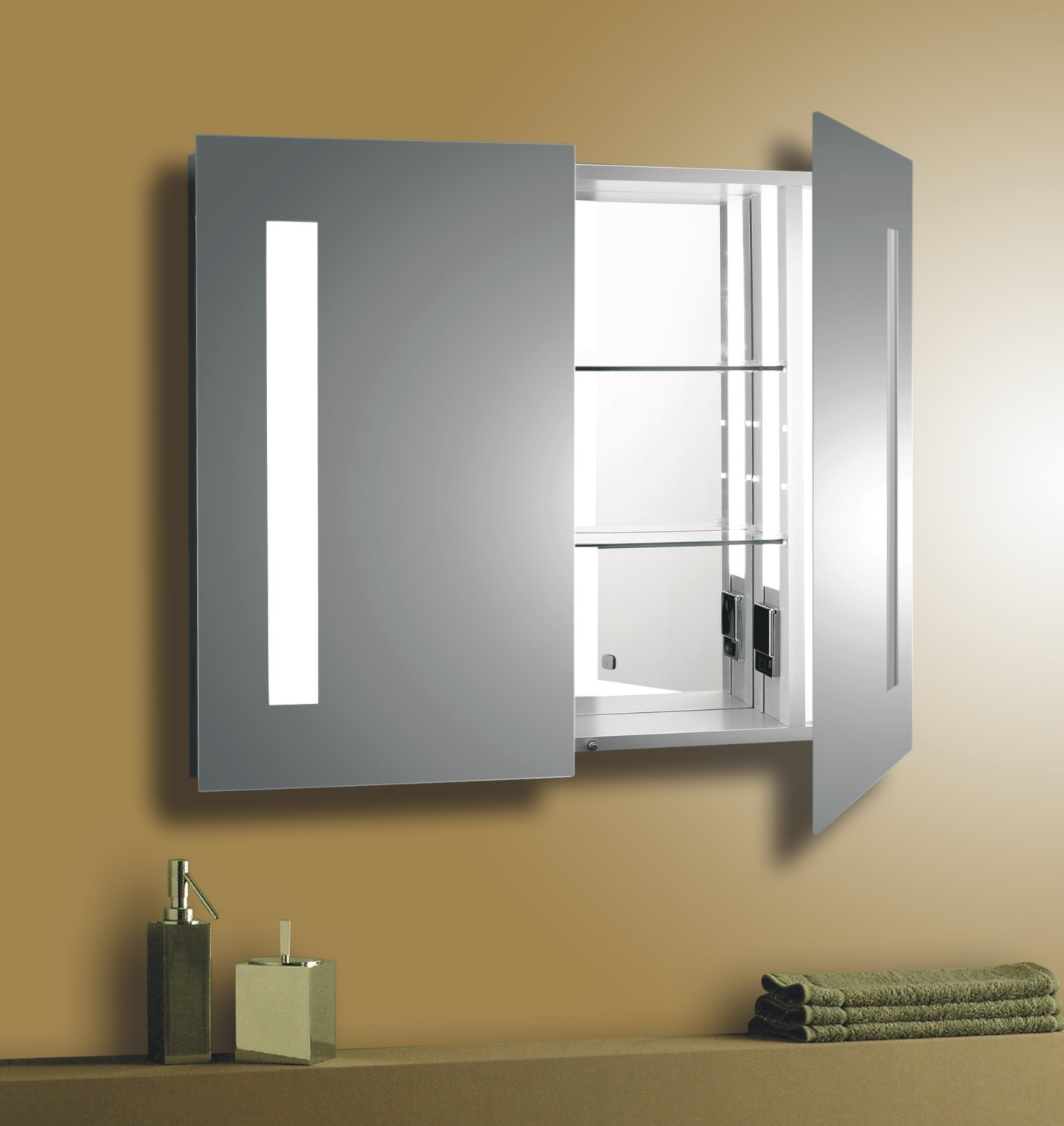 Lighted Bathroom Mirror With Shelf