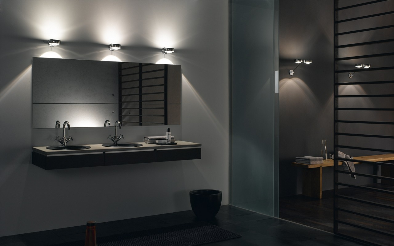Permalink to Lighted Mirrors Bathrooms Modern