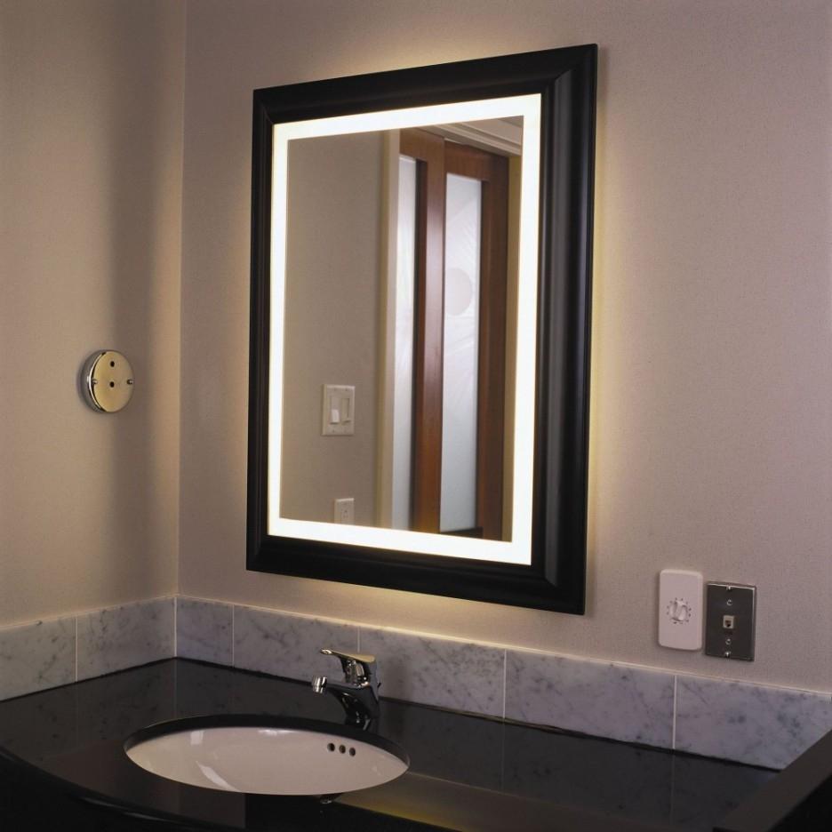 Lighted Vanity Mirror For Bathroom