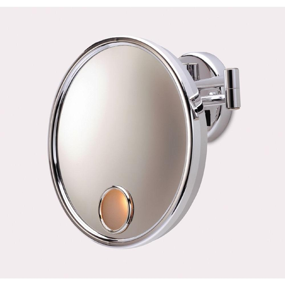Permalink to Lighted Wall Mount Makeup Mirror Chrome