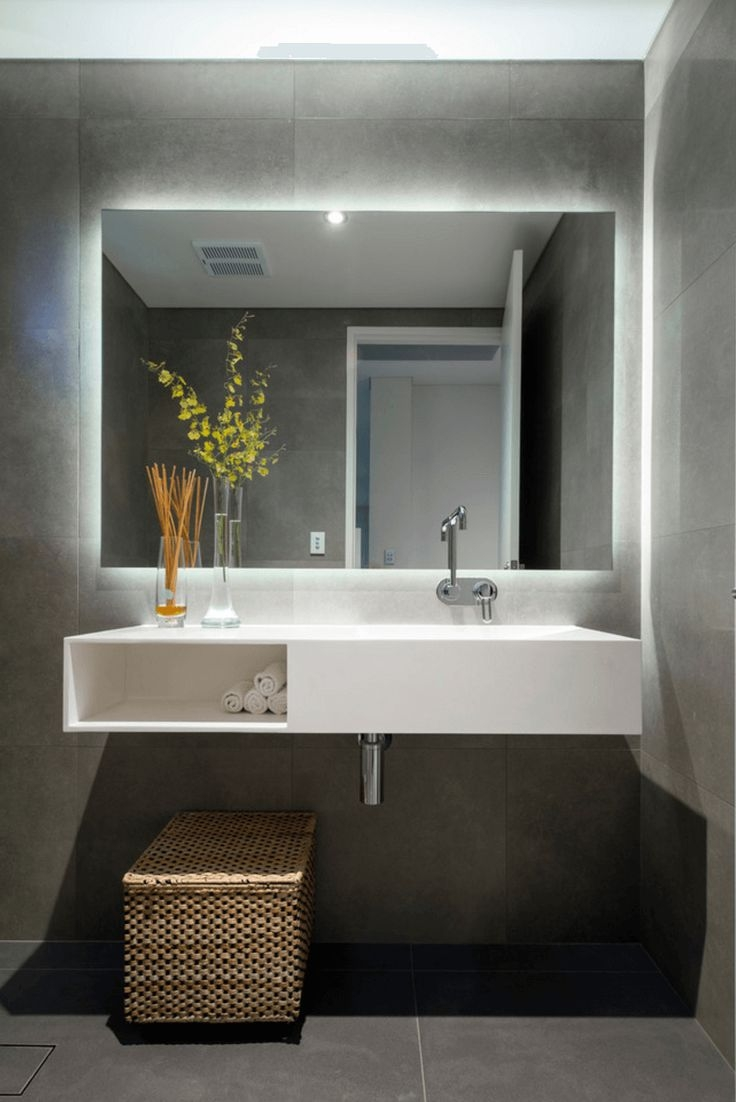 Lighting For Large Bathroom Mirror