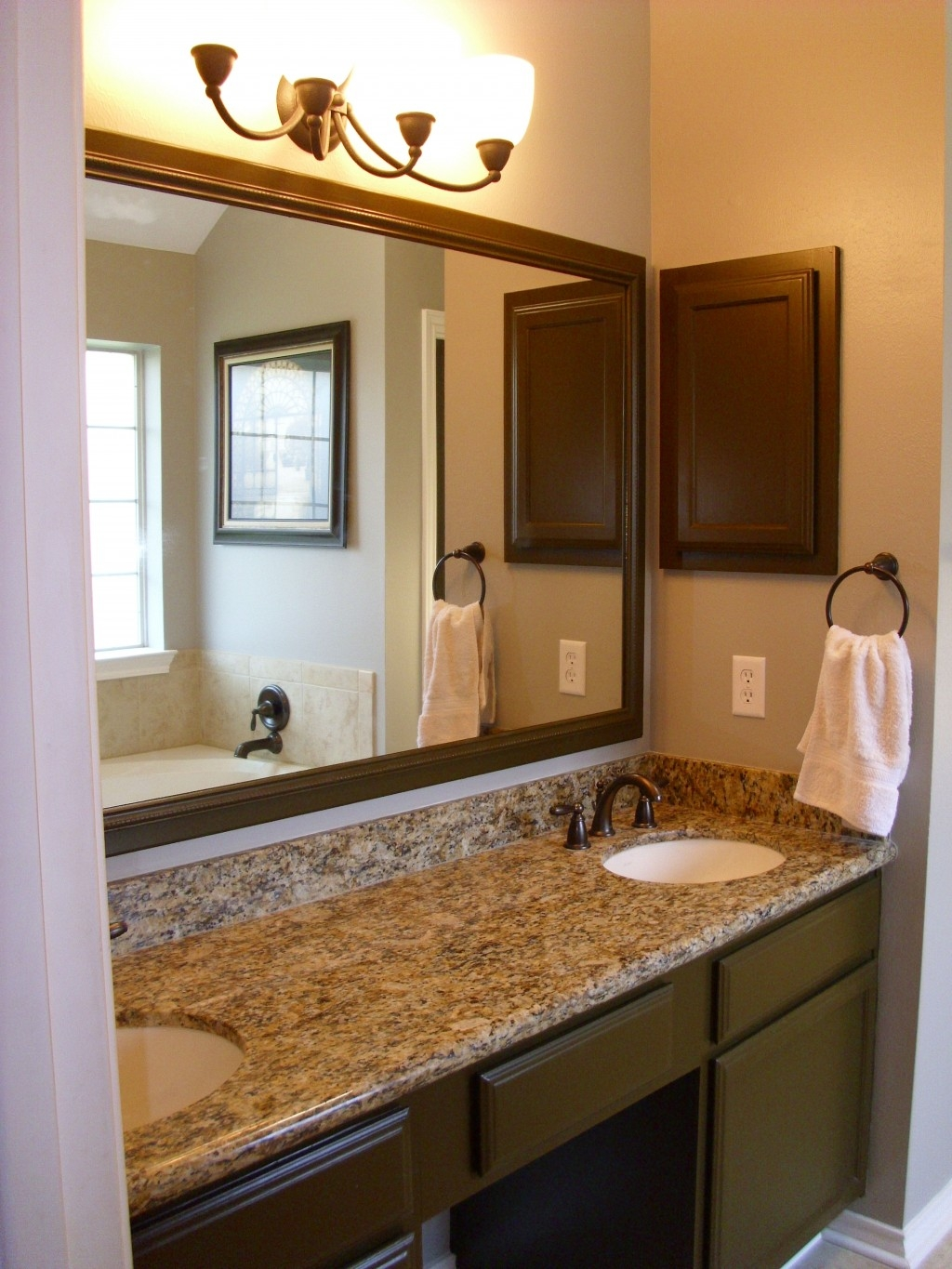 Lighting Over Large Bathroom Mirror